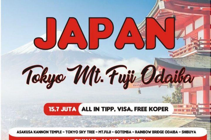Paket Tour Tokyo Jepang 5 Hari