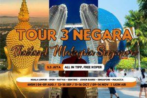 Paket Tour Wisata 3 Negara Malaysia Singapore Thailand