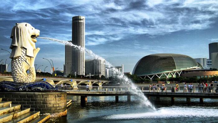 Tempat Wisata Singapore Merlion Park