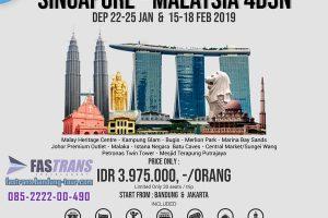 Paket Tour Wisata Singapore-Malaysia 4D3N 2019